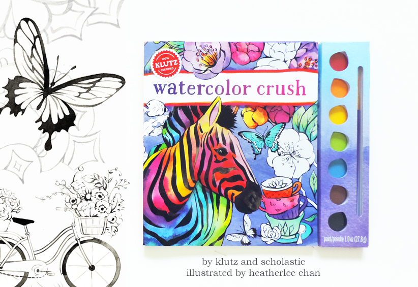 Watercolor Crush: a Watercolor Coloring Book by Klutz - Heatherlee Chan